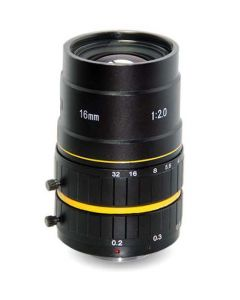 "AZURE Photonics FI-1620ML5M 16mm F2.0 for 1"" 5 Megapixel sensor"