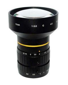 "AZURE Photonics FI-1620MX5M 16mm F2.0 for 4/3"" 5 Megapixel sensor"