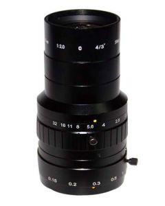 "AZURE Photonics FI-2520MX5M 25mm F2.0 for 4/3"" 5 Megapixel sensor"