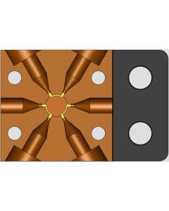 Automated 6 port injection Valve