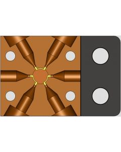 """Automated 6 port Valve. For use with 1/32"""" tubing"""