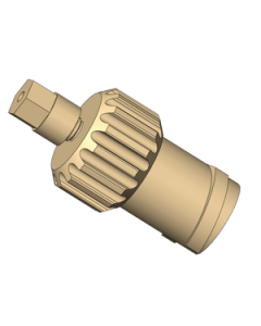 """Luer-Lock Adapter assembly. For use with 1/32"""" tubing"""