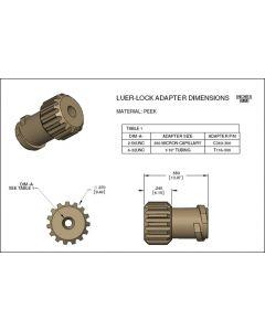 Labsmith Luer lock adapter